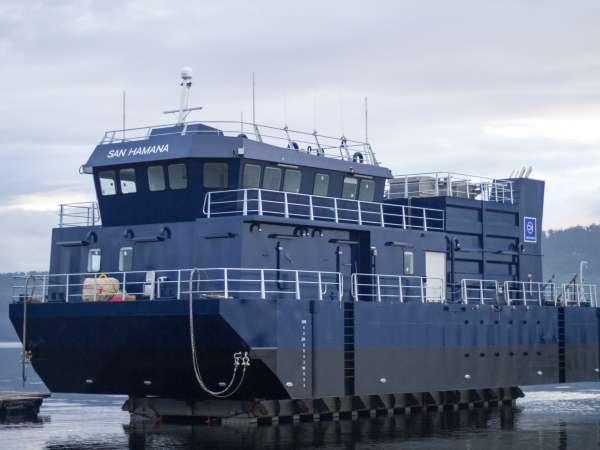 San Hamana Feed Barge Launch